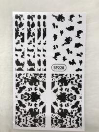 Nagelsticker Koeienprint SP228