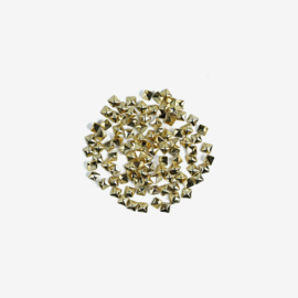Semilac nailart studs grote vierkant goud 772 100pcs