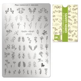 Moyra Stempel Plaat 79 Green Leaves