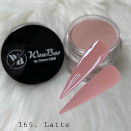 WowBao Nails acryl poeder color nr 165 Latte 28g