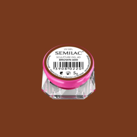 Semilac Sculpture Gel 4D Brown 600