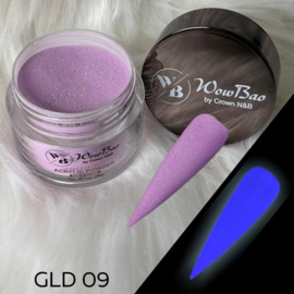 WowBao Nails acryl poeder color glow in the dark GLD09 28g