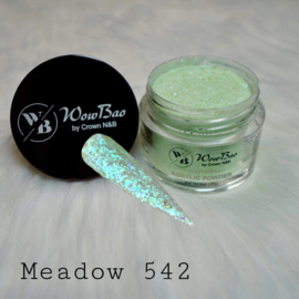 WowBao Nails acryl poeder Glitter nr 542 Meadow 28g