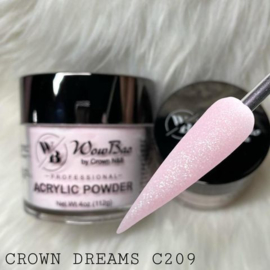 WowBao Nails acryl poeder shimmer 209 Crown Dreams 56g