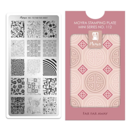 Moyra Mini Stempel Plaat 112 Far Far Away