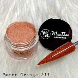 WowBao Nails acryl poeder Shimmer nr 811 Burnt Orange 28g