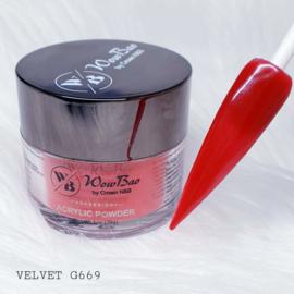 WowBao Nails acryl poeder nr G669 Velvet 28g