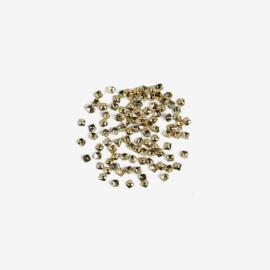 Semilac nailart studs klein vierkant goud 762 100pcs