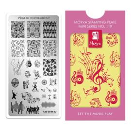Moyra Mini Stempel Plaat 119 Let The Music Play