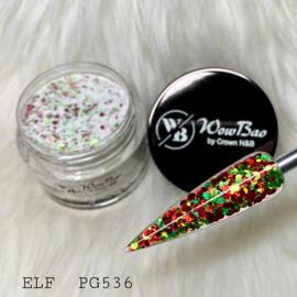 WowBao Nails glitter acryl poeder nr 536 ELF 28g