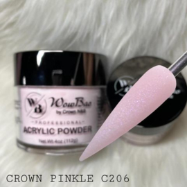 WowBao Nails acryl poeder shimmer 206 Crown Pinkle 56g