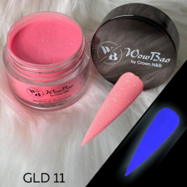 WowBao Nails acryl poeder color glow in the dark GLD11 28g