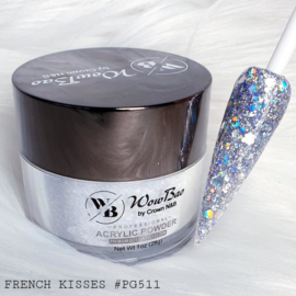 WowBao Nails acryl poeder Premium Glitter nr PG511 French Kisses 28g