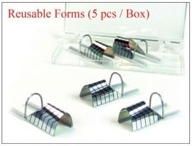 Reusable nail forms/ herbruikbare sjablonen