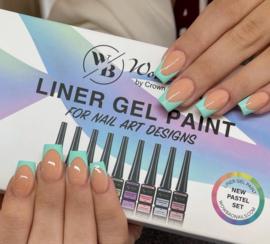 WowBao Nails Liner gel Paint Set PASTEL