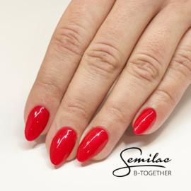 Semilac gelpolish 025 Glitter Red 7ml