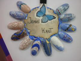 Nailart workshop Jeans&kant zat. 15 Februari olv Marijke Voor Den Dag