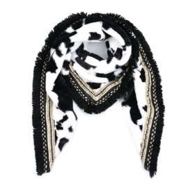 Sjaal Soft Koe print