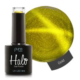 Halo Gelpolish Gold 8ml (Cat Eye)
