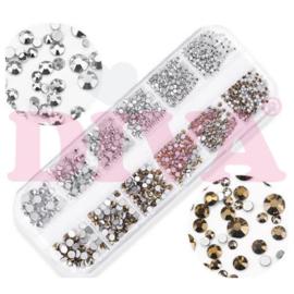 Metoe Nails Doosje met strass steentjes 03