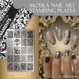 Moyra Stempel Plaat 03 Ornaments