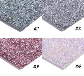 Glitter steentjes foto ondergrond mat