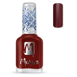 Moyra Stempel Nagellak sp03 burgundy red