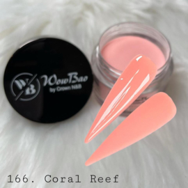 WowBao Nails acryl poeder color nr 166 Coral Reef 28g