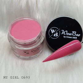WowBao Nails acryl poeder nr G693 My Girl 28g