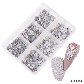 Crystal steentjes milk white in box