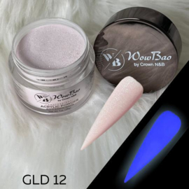 WowBao Nails acryl poeder color glow in the dark GLD12 28g