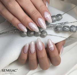 Semilac Extend 5 in 1 806 Glitter Delicate Pink (rubber base)  7ml