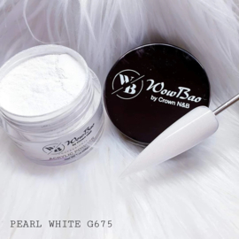 WowBao Nails acryl poeder nr G675 Pearl White 28g