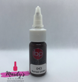 IBP Nail Art Paint Verf #043 Burned Umber