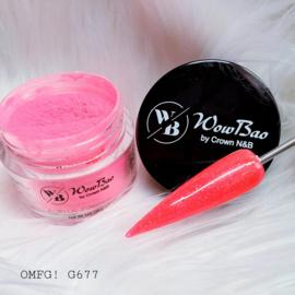 WowBao Nails acryl poeder Glitter nr G677 OMFG! 28g