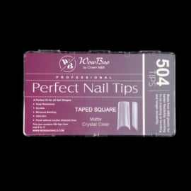 WowBao Nails Square C Curve Professional Perfect Nail Tips 500st.