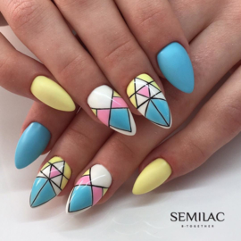 Semilac inspiratie; Blue And Yellow