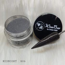WowBao Nails acryl poeder Glitter nr 806 Midnight 28g