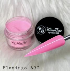WowBao Nails acryl poeder Shimmer nr G697 Flamingo 28g