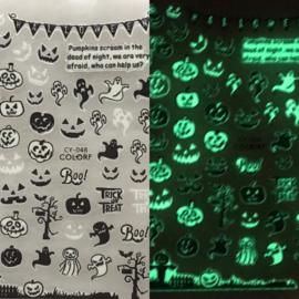 Nagelsticker Halloween Glow In the Dark CY-048