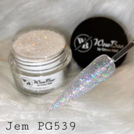 WowBao Nails glitter acryl poeder nr PG539 Jem 28g