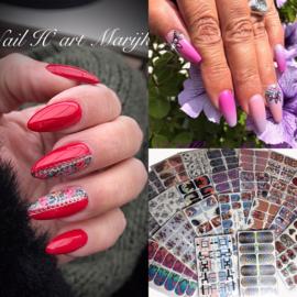 Workshop nailart wraps (nailin) zat. 14 maart olv Marijke Voor Den Dag