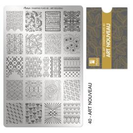Moyra Stempel Plaat 40 Art Nouveau