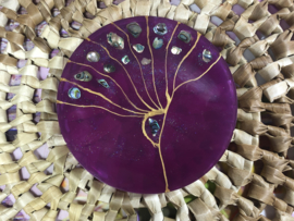 Handgemaakte display Peacock Purple