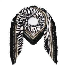 Sjaal Soft Zebra print