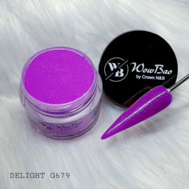 WowBao Nails acryl poeder Glitter nr G679 Delight 28g