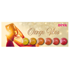 Diva Orange Vibes Pigmenten inclusief 6 applicators