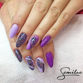 Semilac gelpolish 129 Violet Bliss 7ml