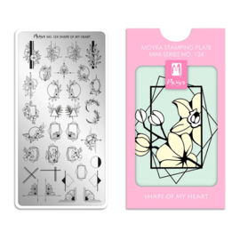 Moyra Mini Stempel Plaat 124 Shape Of My Heart