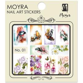 Moyra Water Tranfer Nailart Sticker 01